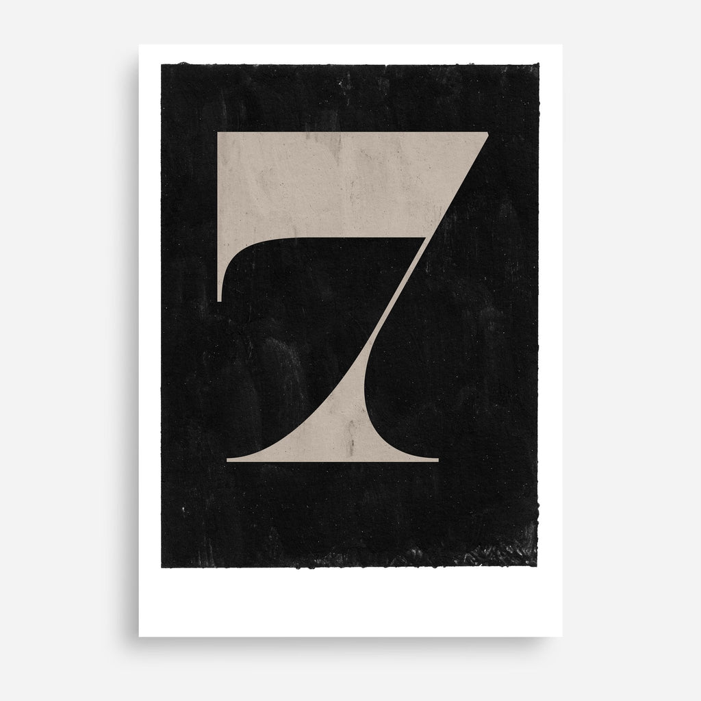 Vintage Numerals #7 - Decor Haus Store Wall Art and Limited Edition Prints