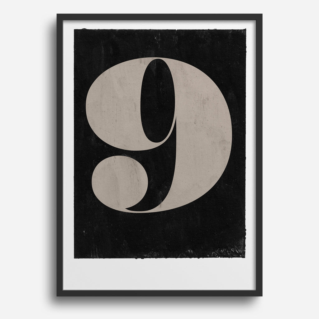 Vintage Numerals #9 - Decor Haus Store Wall Art and Limited Edition Prints