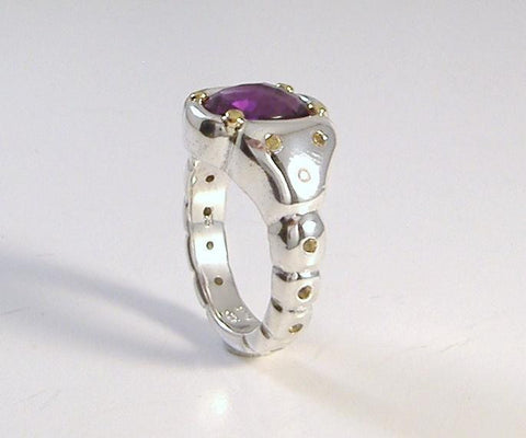 Brazilian Amethyst and Canary Yellow Sapphire Ring