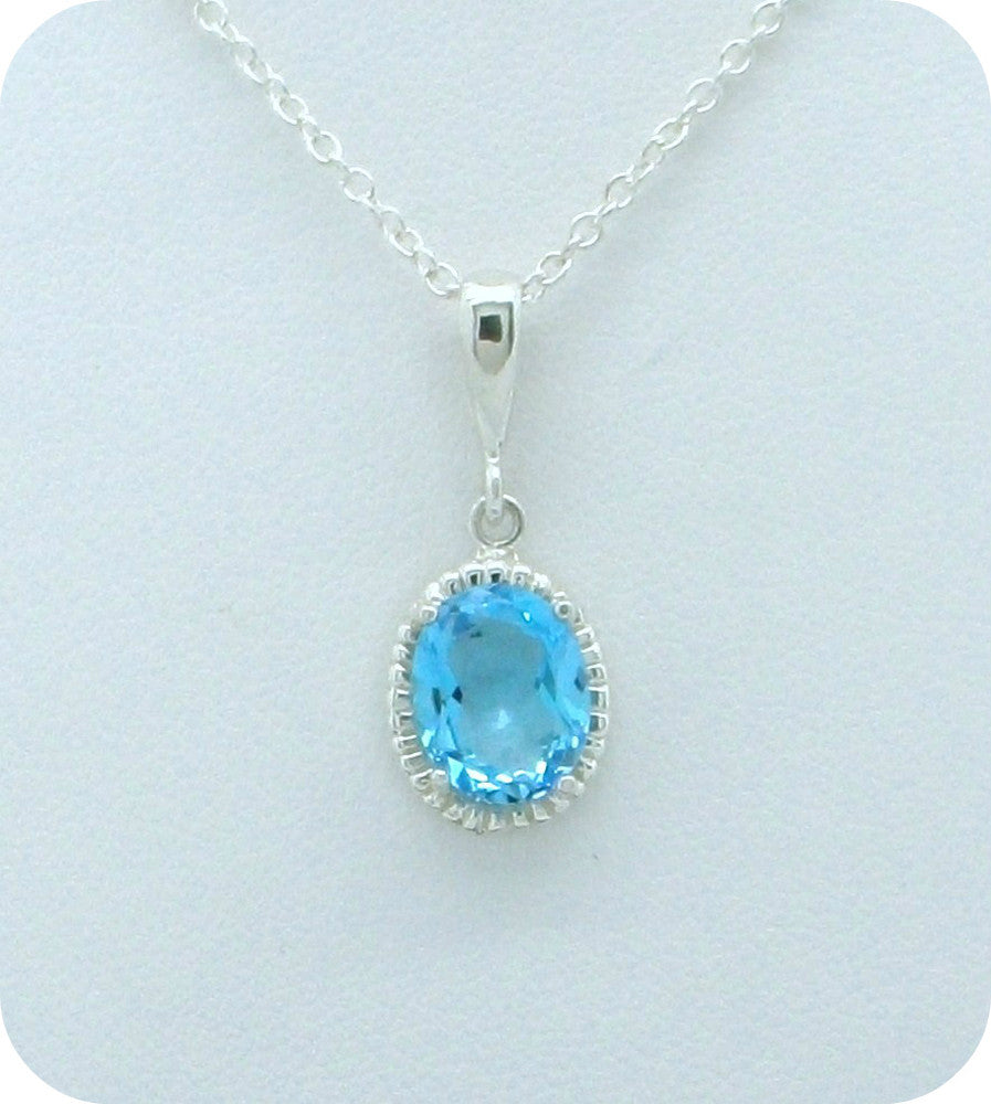 Halo Gemstone Necklace