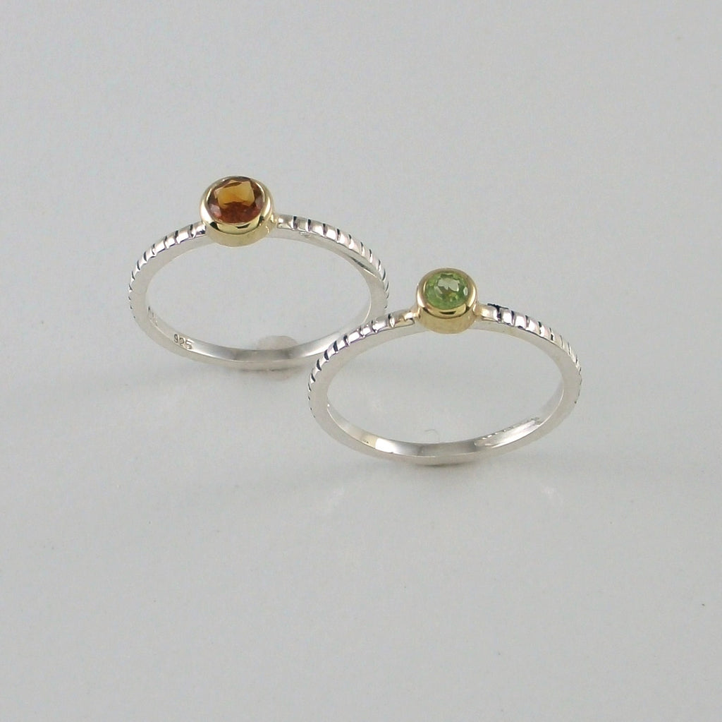 Coin Edge Stacking Rings