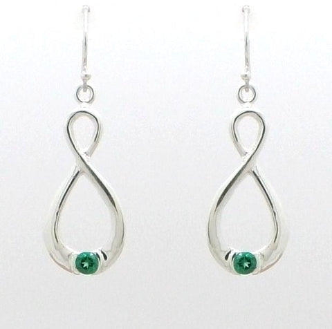 Infinity Gemstone Earrings