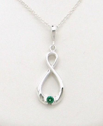 Infinity Gemstone Necklace