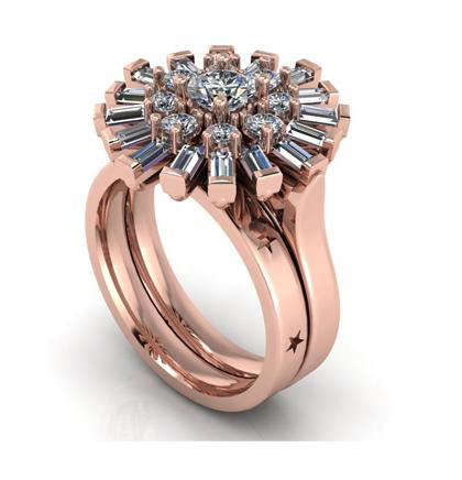 Ballerina Wedding Set in Rose Gold