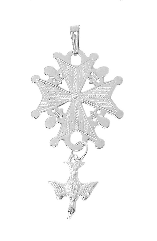 Large Silver Huguenot Cross