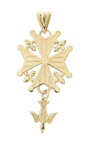 "Gold ""Legacy"" Huguenot Cross"