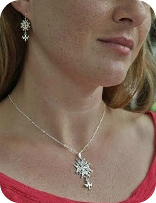 Large Huguenot Cross Bundle in Silver