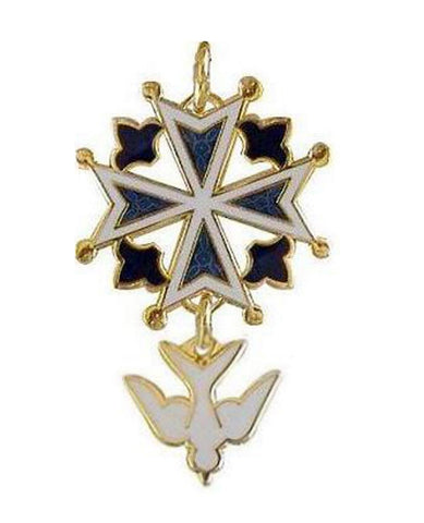 Enamel Huguenot Cross