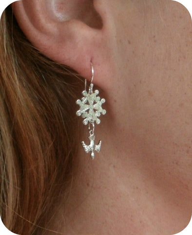 Huguenot Cross Earrings