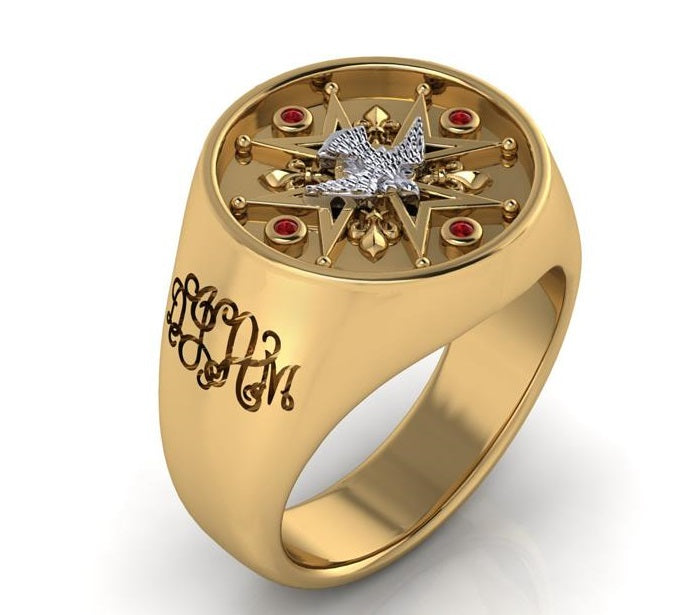 Custom Family Ring in 14K Gold