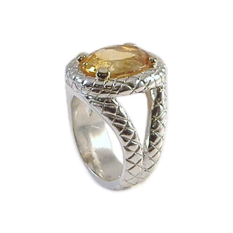 """Karina"" Ring in Sterling and 18K Gold"