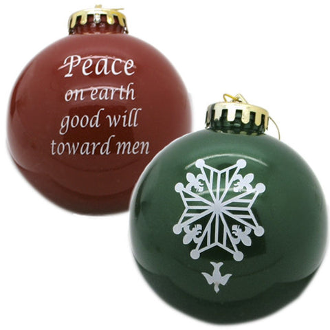 """Peace on Earth"" Huguenot Ornament"