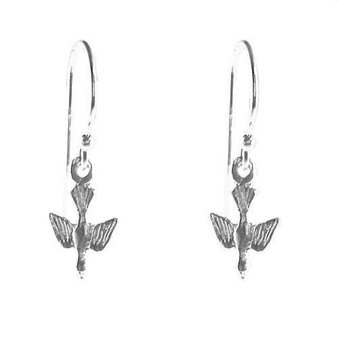 Small Sterling Silver Dove of Peace Earrings