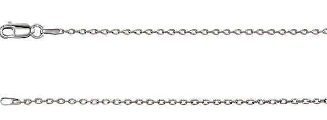 Add a Sterling Silver Cable Chain only $19!