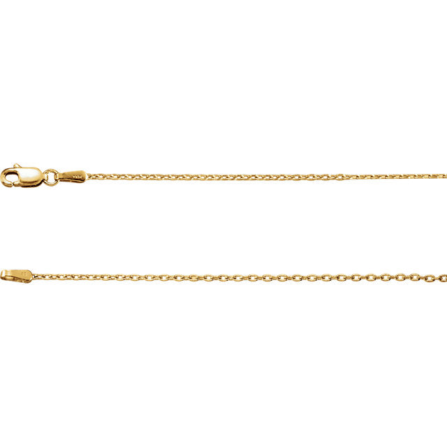 14K Gold Cable Chain with Lobster Clasp