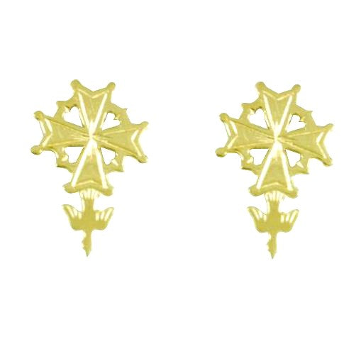 Huguenot Cross Post Earrings