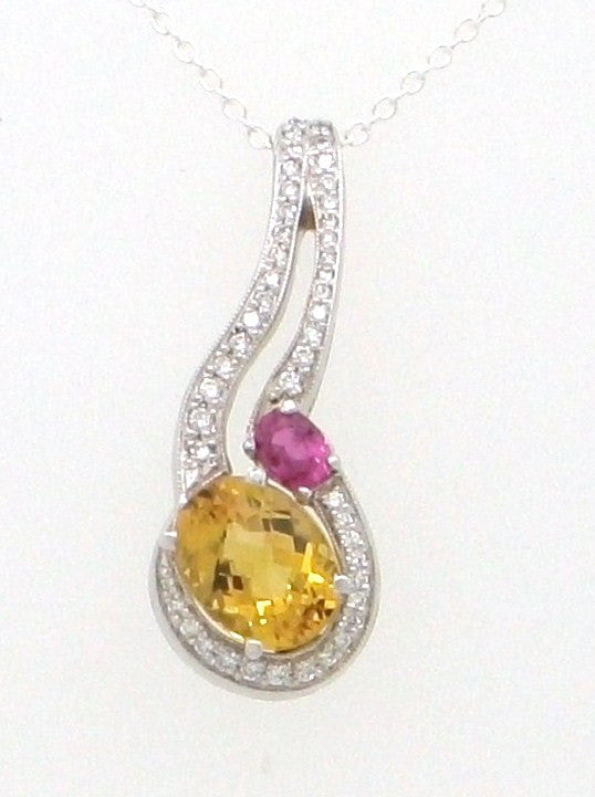 Multi Color and diamond Pendant