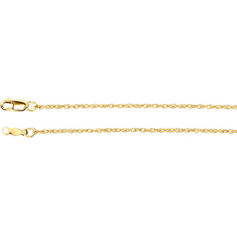14K Gold fine rope chain