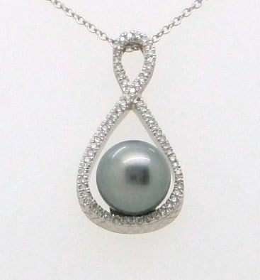 Tahitian Pearl Infinity Necklace