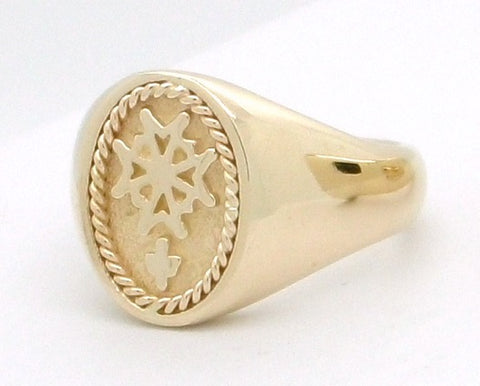 Ladies Huguenot Ring in Gold or Silver