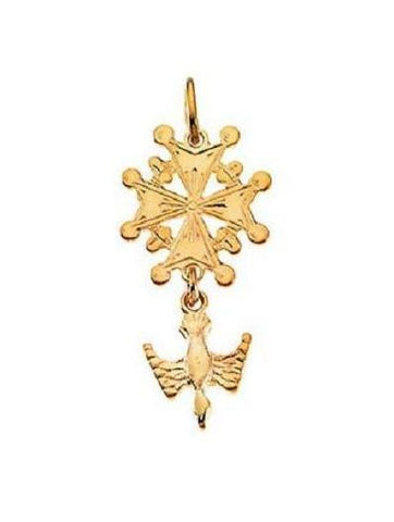 Petite Huguenot Cross Necklace