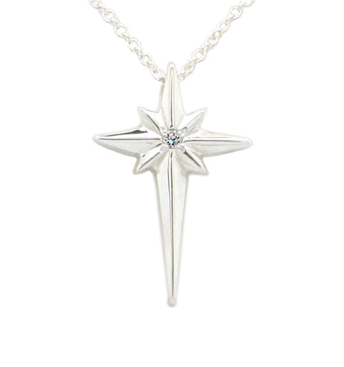"Upgrade 2 1/2"" Sterling Star of Bethlehem to a .25 diamond"