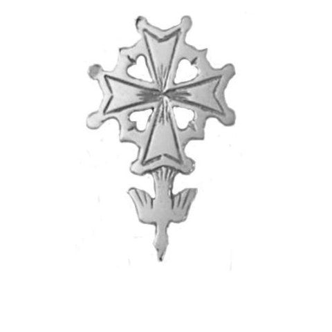 Silver Huguenot Cross tie tac/Lapel pin