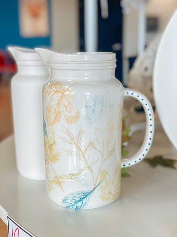 Easy Ceramic Painting Ideas for Fall Mason Jar Pitcher