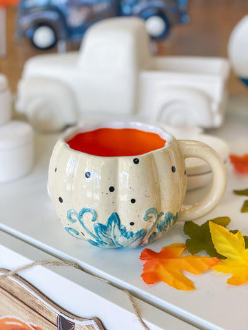 Easy Ceramic Painting Ideas for Fall Pumpkin Mug