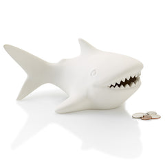 Ceramic Shark Bank at home