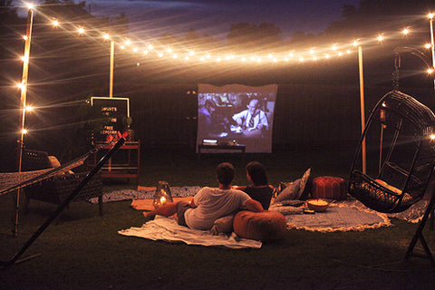 Date Ideas At Home Outdoor Movie