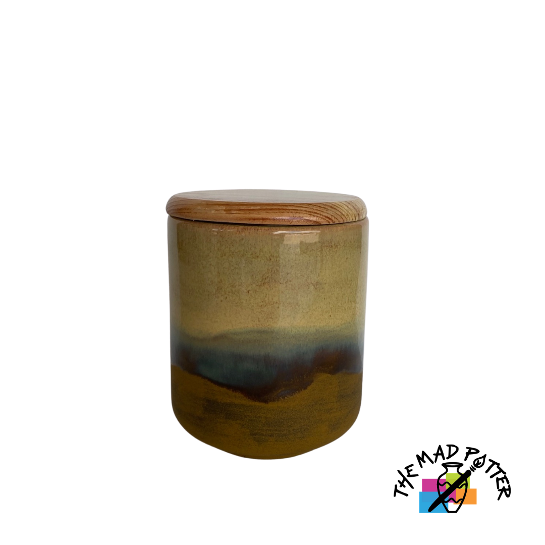 Medium Canister w/ Wooden Lid