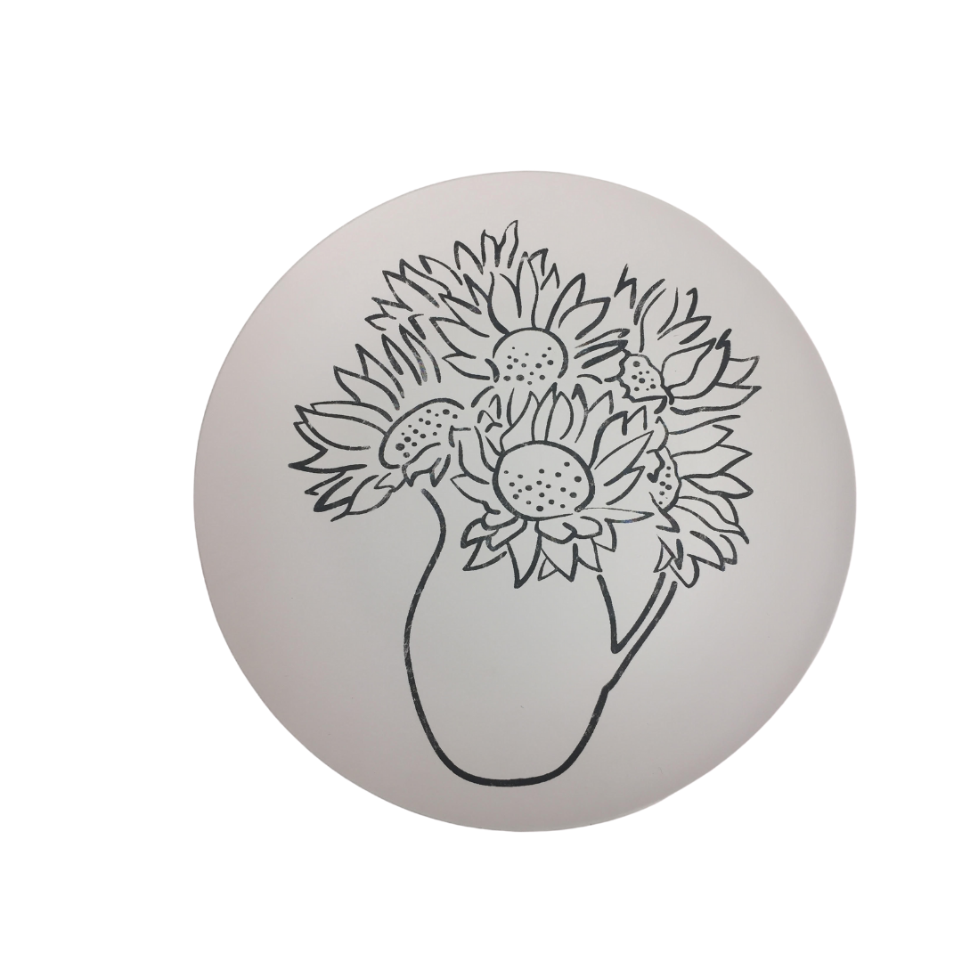 Sunflower Coupe Dinner Plate