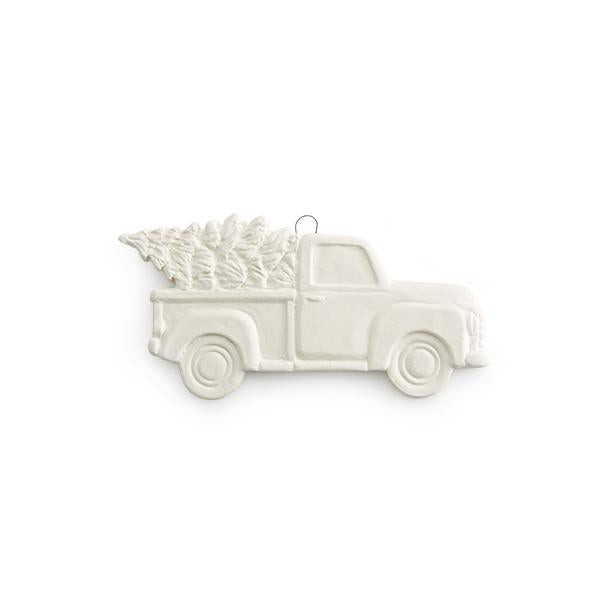Truck w/ Tree Flat Ornament