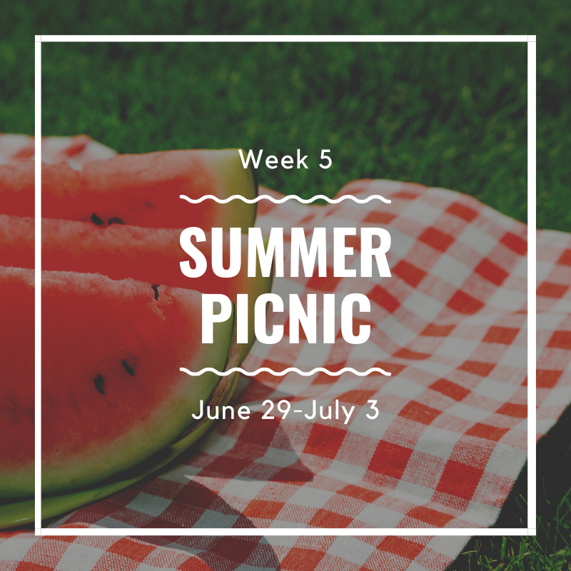 Summer Camp Week 5 (June 29 - July 3)
