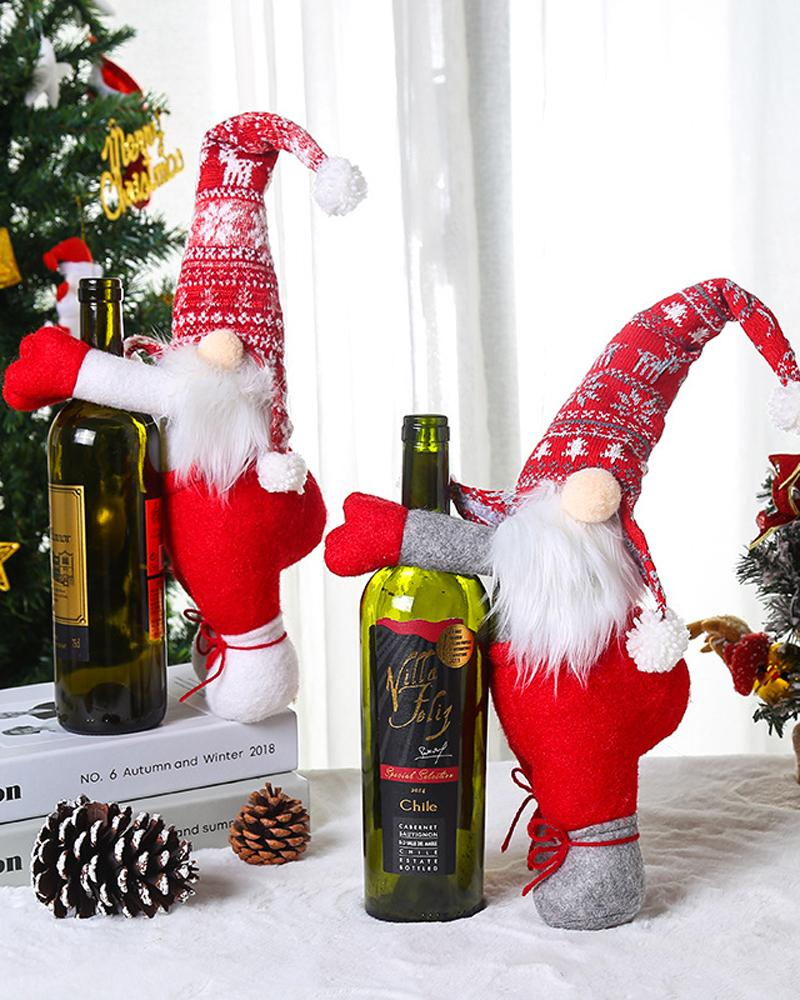Christmas Curtain Buckle Santa Claus Wine Bottle Buckle