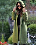 Cardigan Knitted Sweater Long Coat
