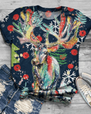Christmas Print Top T-shirt