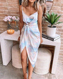 Sexy Sleeveless Tie Dye Dress