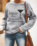 Liquor Noun Print Sweater