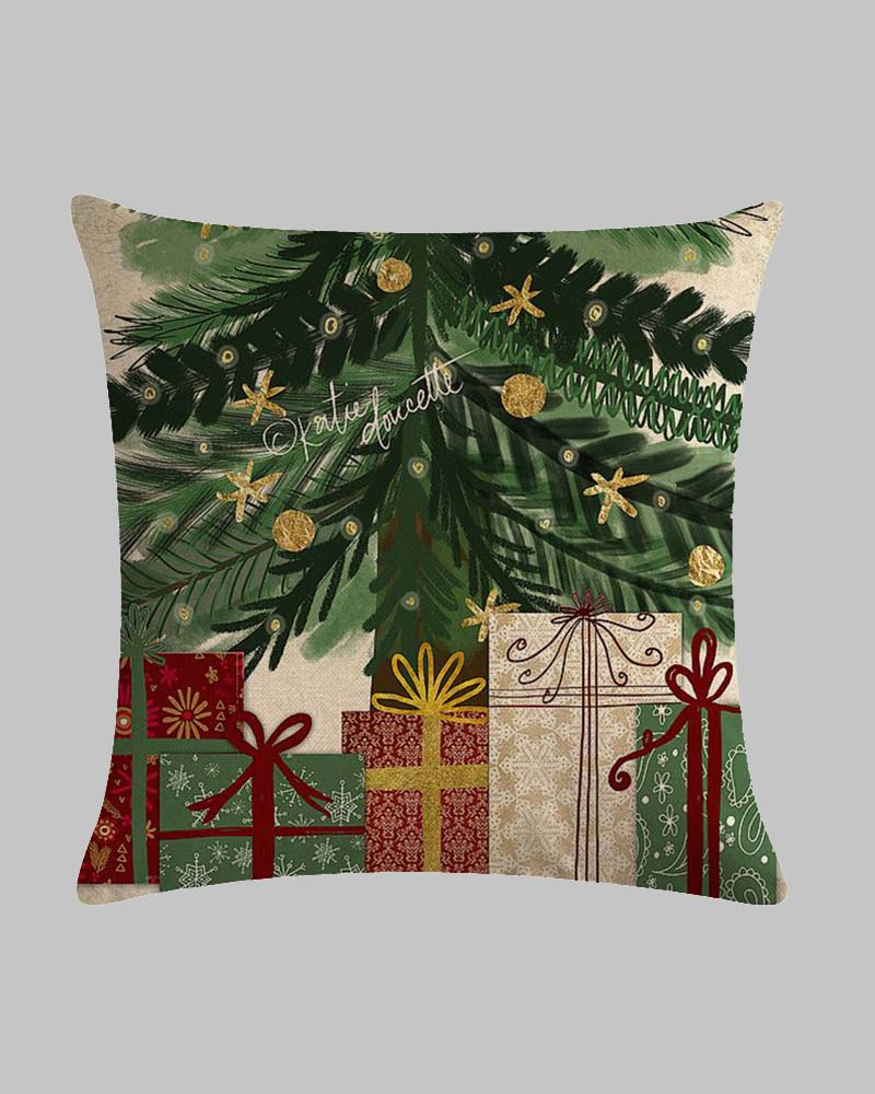 Christmas Tree Decoration Series Linen Pillowcase