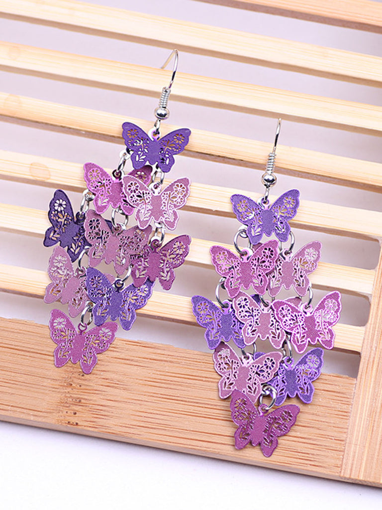 Butterfly Copper Colorful Earring