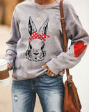 Printed Loose Crew Neck Sweatshirt