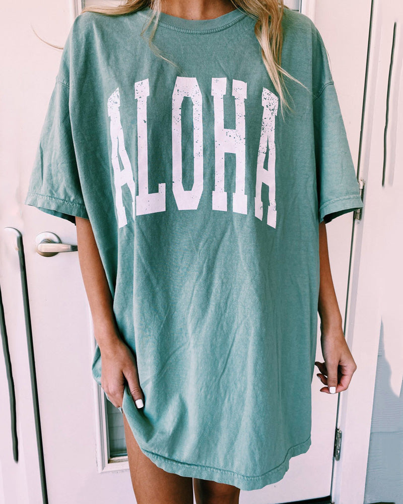 Letter Printing Loose Tee