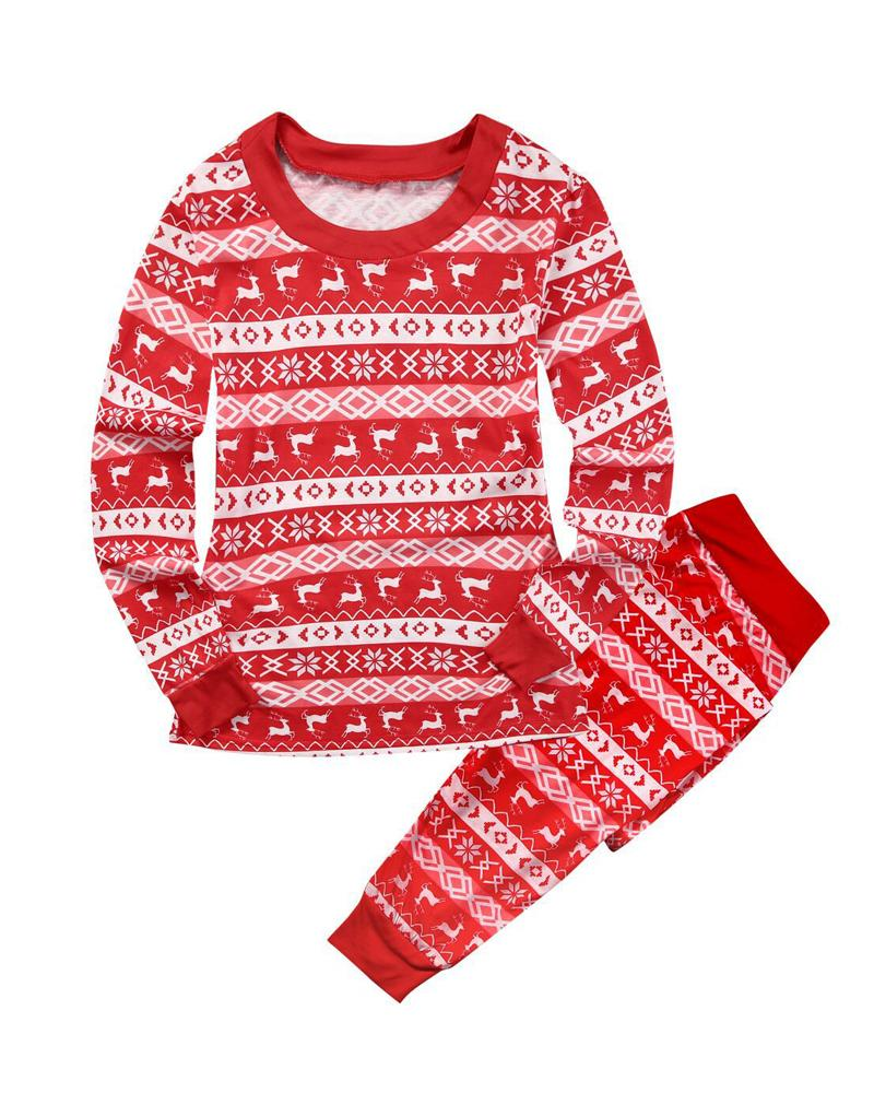 Christmas Parent-child Set Printed Home Wear Pajamas