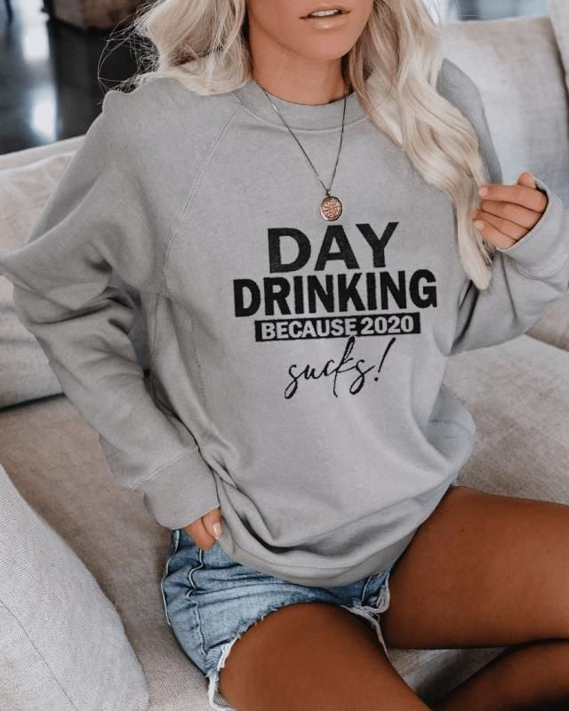 DAY DRINKING Print Blouse