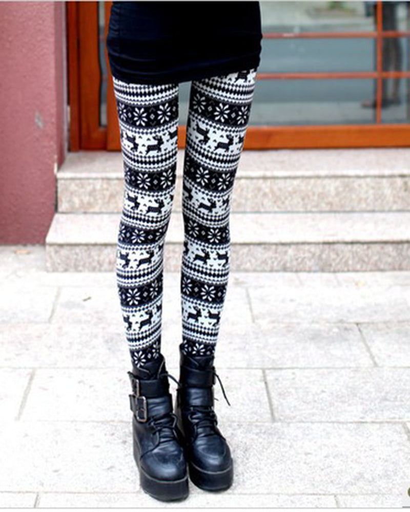 Super Soft Brushed Christmas Print Leggings