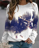Letter Branch Art Portrait Landscape Painting Printed Sweatshirt T-shirt