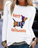 Halloween Casual Loose Print T-shirt