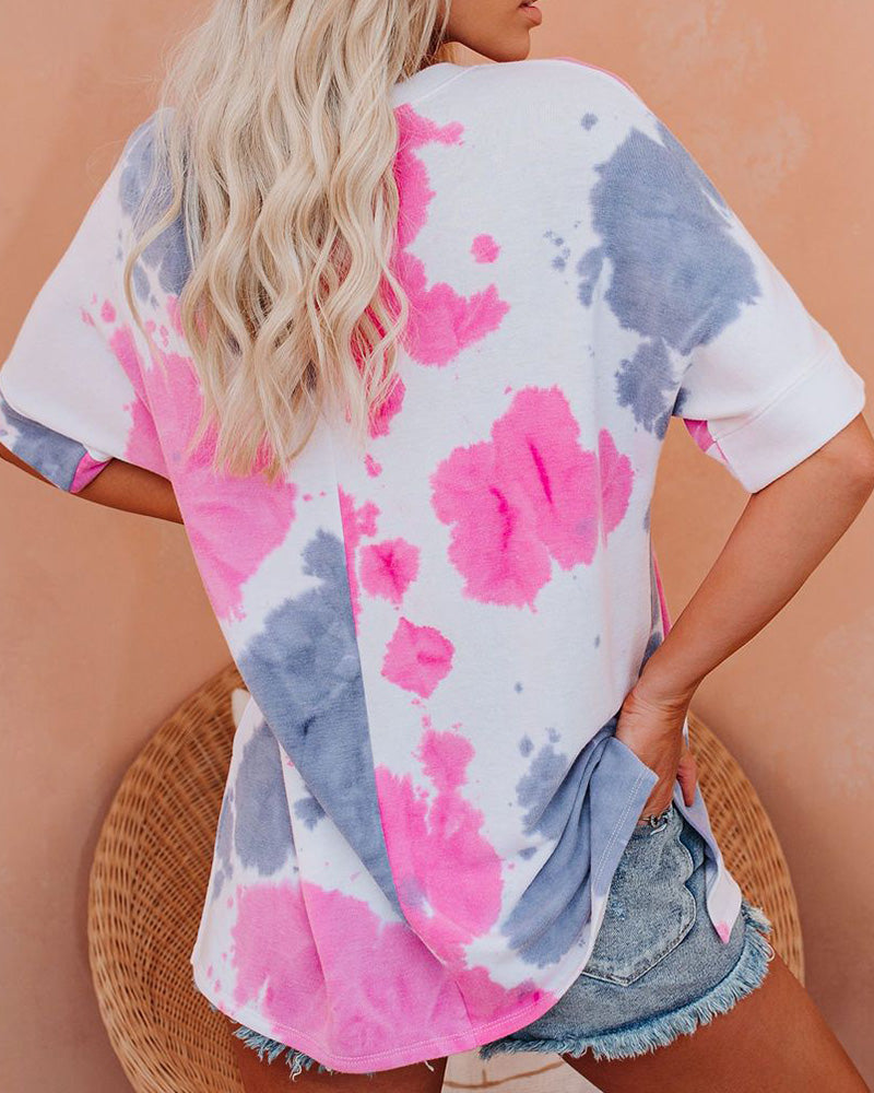 Tie-dye Tracksuit Casual Blouse